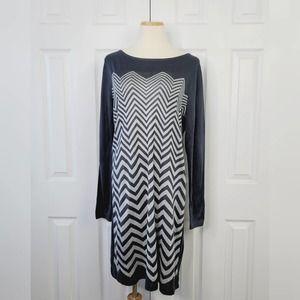 🌻 SALE Faded Glory Zig Zag Sweater Dress